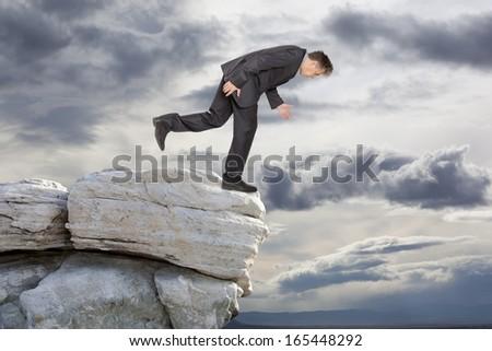 Sadness businessman. Financial crisis. Business concept  - stock photo