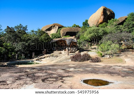 Safari lodge in Africa near Matobo National Park, Zimbabwe