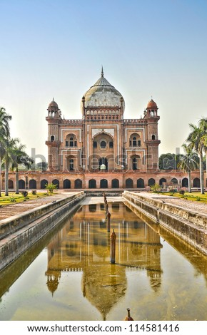 Safdarjung's Tomb-1, New Delhi, India - stock photo