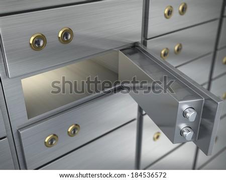Safe cell, safe deposit box - stock photo