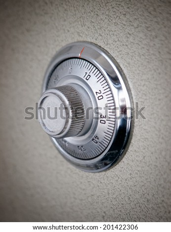 Safe dial lock close up background - stock photo