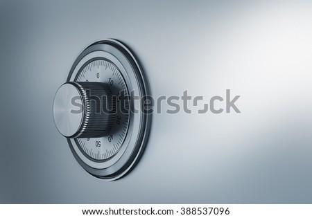 safe dial, security concept - stock photo