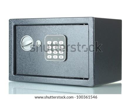 safe isolated on white - stock photo