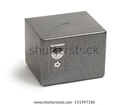 Safe, isolated on white - stock photo