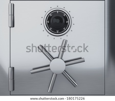Safe with combination lock - stock photo