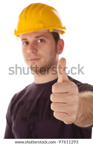 safety at work, do not blow away the life - stock photo