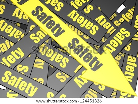 Safety banner - stock photo