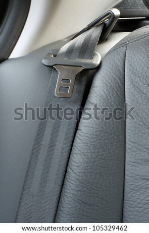 Safety belt in a car, a vertical picture - stock photo