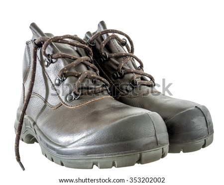 safety boots with reinforced head for wear in the risk  area