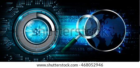 Safety concept, Closed Padlock on digital background, cyber security. key.world