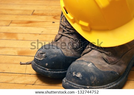 Safety first is a regulation in the skilled trades. - stock photo