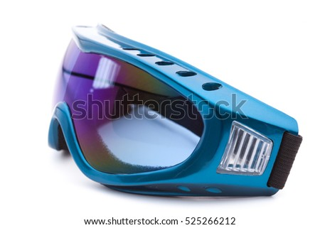 Safety glasses on white background