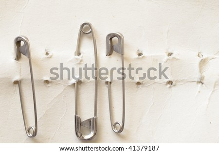 safety pins - stock photo