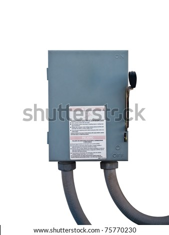 safety switch on white background