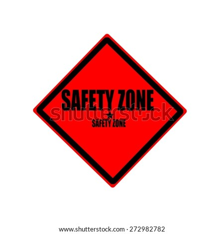 Safety zone black stamp text on red background - stock photo