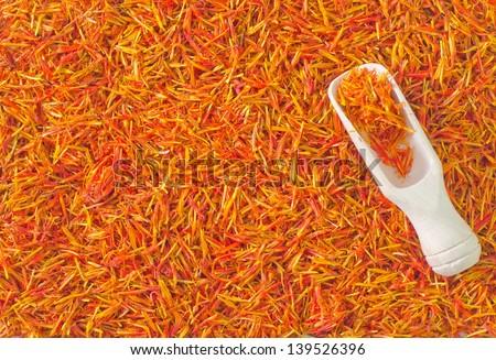 saffron - stock photo
