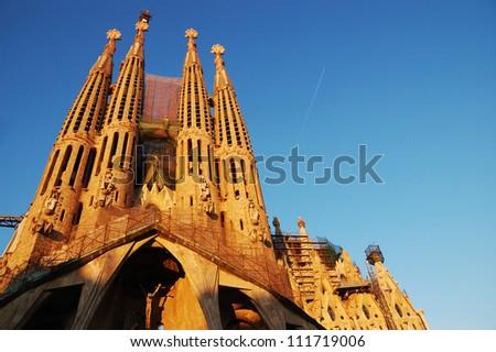 Sagrada Familia in barcelona - stock photo