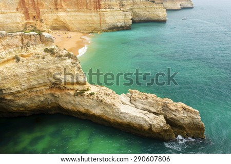 Sagres Beach, Algarve, Portugal - stock photo