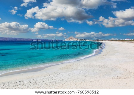 Sahara beach of Naxos island in Cyclades, Greece