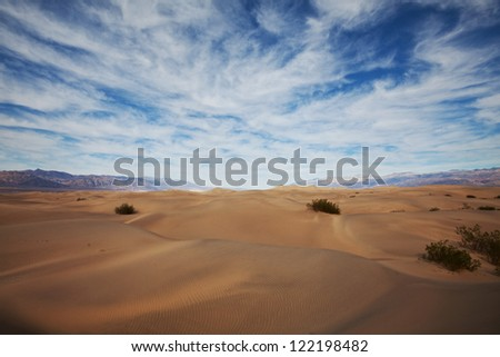 Sahara desert - stock photo