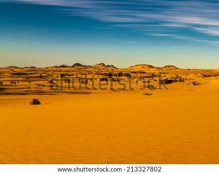Sahara Desert, Algeria - stock photo