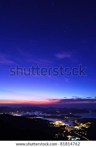 Sai Kung at morning, Hong Kong - stock photo