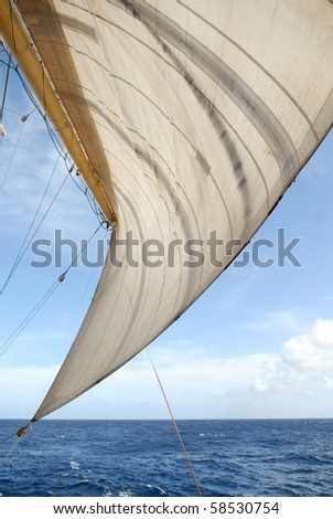 Sail and the sea - stock photo