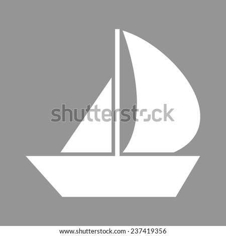 Sail Boat icon - stock photo