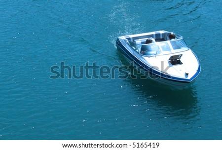 Sail on Adriatic sea in Montenegro - stock photo