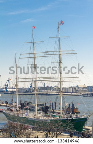 Sail ship in Hamburg - stock photo