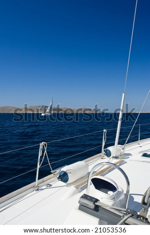 Sailboat details - stock photo