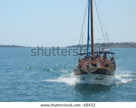 Sailboat in Bulgaria - stock photo