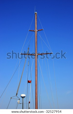 Sailboat Mast - stock photo