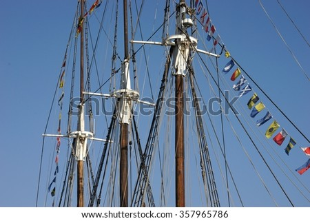 Sailboat mast / Boat - stock photo