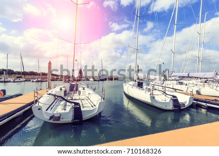 sailboat moored in the harbor