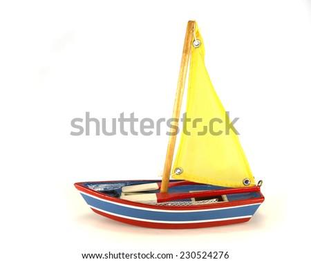 Sailboat toy - stock photo