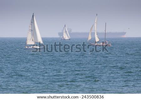Sailboats - stock photo