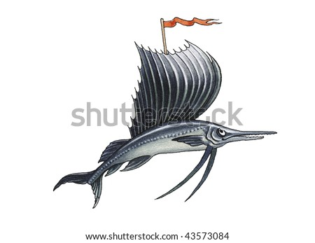 sailfish - stock photo