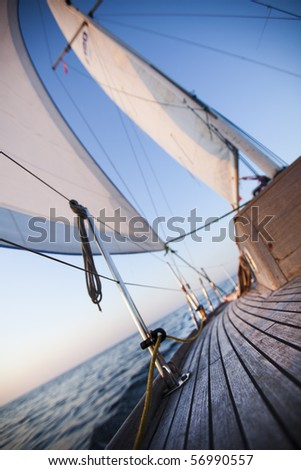 Sailing! - stock photo
