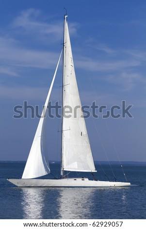 Sailing at summer - stock photo