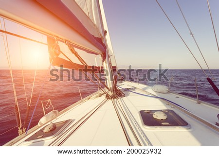 sailing boat - stock photo