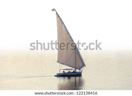 sailing boat on Nile river in Egypt