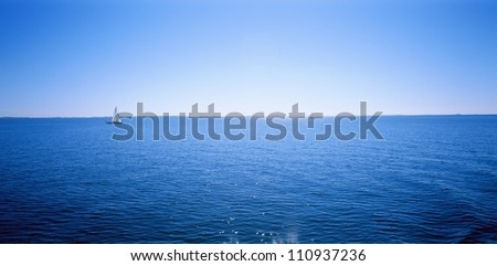 Sailing boat on the sea, Sweden - stock photo