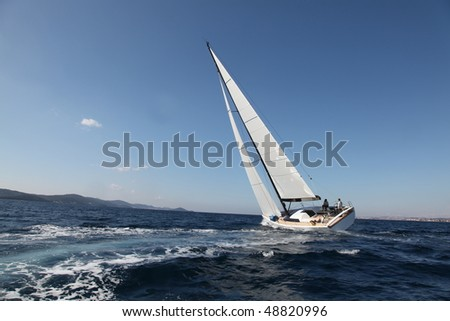 Sailing on the Adriatic Sea - stock photo