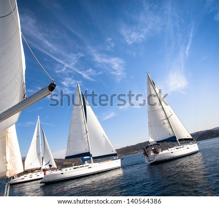 Sailing regatta. - stock photo