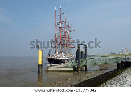 Sailing ship. Bremerhaven, Germany