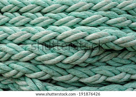 Sailing ship ropes background. - stock photo