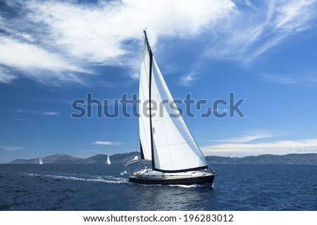 Sailing. Yachting. Luxury Yachts. - stock photo