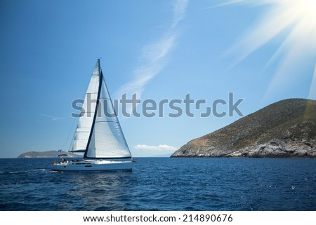 Sailing. Yachting. Luxury yachts. - stock photo