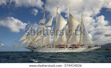 Sailing. Yachting. Sailing ship. Travel